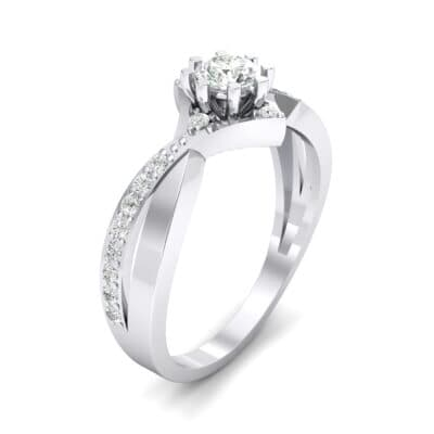 Natale Cross Shank Crystal Engagement Ring (0.88 CTW)