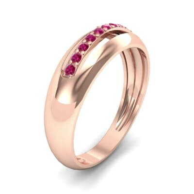 Domed Skyway Ruby Ring (0.15 CTW)