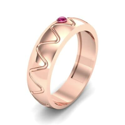 Wide Etch Ruby Ring (0.04 CTW)