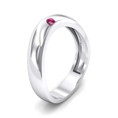 Eclipse Solitaire Ruby Ring (0.04 CTW)