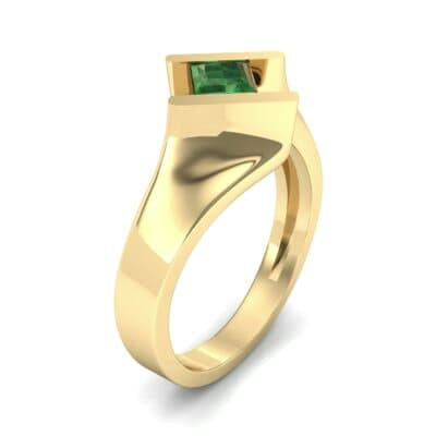 Bold Tension Emerald Ring (0.45 CTW)