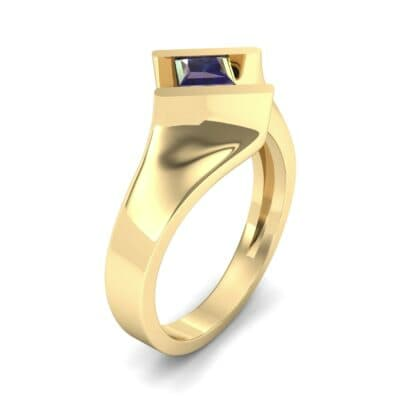 Bold Tension Blue Sapphire Ring (0.45 CTW)